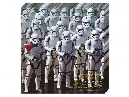 Sada 20 ubrousků Star Wars The Force Awakens 33 x 33 cm DISNEY