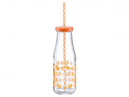 Láhev se slámkou Juicy Orange 400 ml DOMOTTI