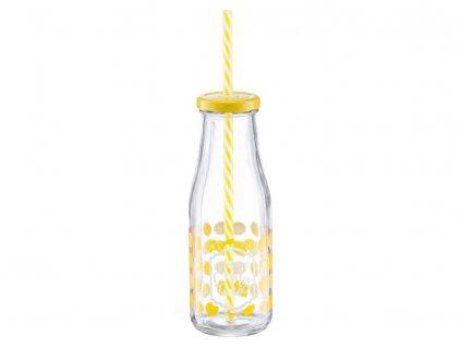 Láhev se slámkou Juicy Lemon 400 ml DOMOTTI