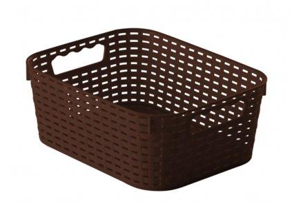 Košík Rattan Brown 28 x 22 x 11 cm JOTTA