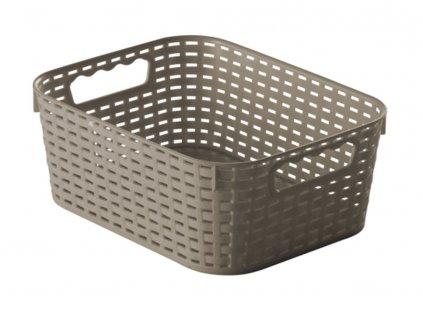 Košík Rattan Grey 28 x 22 x 11 cm JOTTA