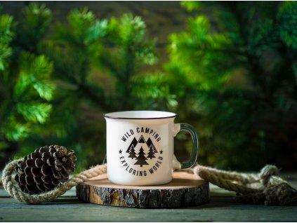 Porcelánový hrnek Adventure Wild Camping 510 ml AMBITION