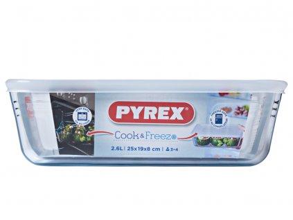 Žáruvzdorná nádobka s víkem Cook & Freeze 25 x 19 cm 2,6 l PYREX