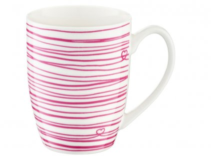 Porcelánový hrnek Love Stripes 380 ml AMBITION