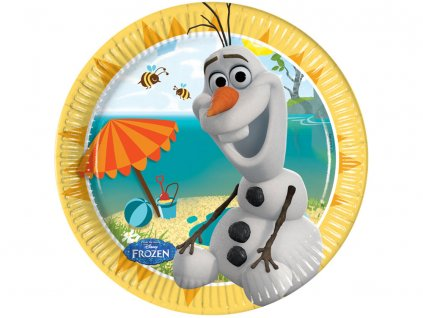 Sada 8 papírových talířů Frozen Olaf Summer 20 cm DISNEY