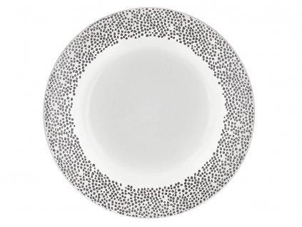 Mělký talíř Poppy Gray Dots 27 cm AMBITION