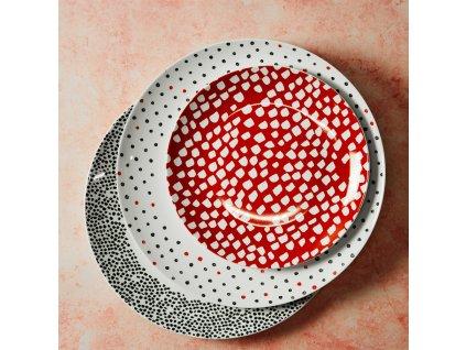 Dezertní talíř Poppy Red / White Dots 20 cm AMBITION