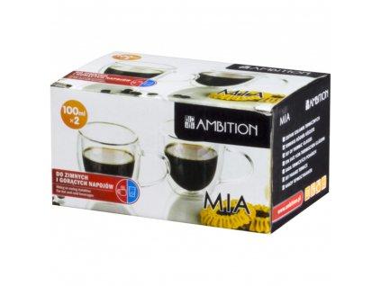 Sada 2 termo šálků na espresso Mia 100 ml AMBITION