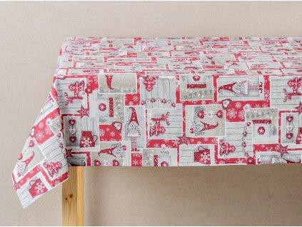 Bavlněný dekorační ubrus Krasnal 120 x 120 cm F016-05BW PATIO