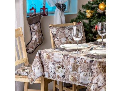 Bavlněný dekorační ubrus Christmas 120 x 120 cm F015-05BC PATIO