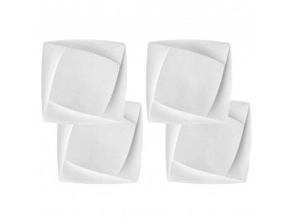 Sada 4 dezertních talířů Diva 16,5 x 16,5 cm AMBITION