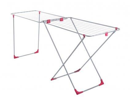Sušák na prádlo Laura Metalic / Red 215 x 56 x 89 cm JOTTA