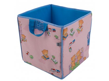 Hranatý koš na hračky L069-11BW 30 x 30 x 30 cm PATIO