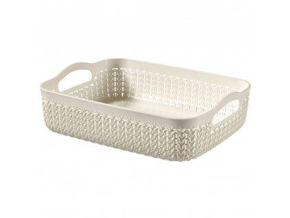 Plastový košík Knit A4 Cream 35 x 27 cm CURVER
