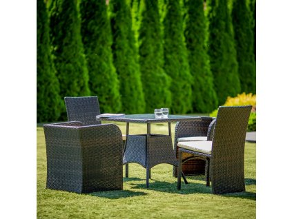 Souprava zahradního nábytku z technorattanu Celine Wenge PATIO