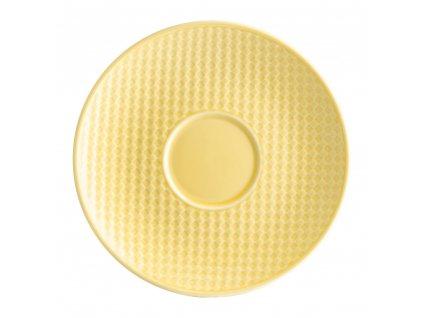 Porcelánový podšálek Nordic Yellow 15,5 cm AMBITION