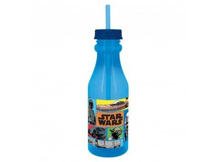 Láhev se slámkou Star Wars Saturn Comics 500 ml DISNEY