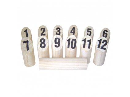 Sada pro finskou kolíkovou hru 12 kolíků a 1 vrhací kolík