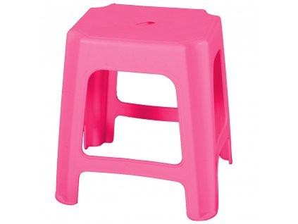 Plastový taburet Raspberry 41 x 34,5 x 42,5 cm