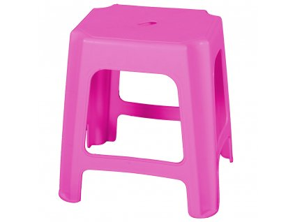 Plastový taburet Pink 41 x 34,5 x 42,5 cm