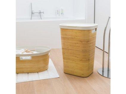 Prádelní koš s bambusovým vzorem Infinity 60 l CURVER