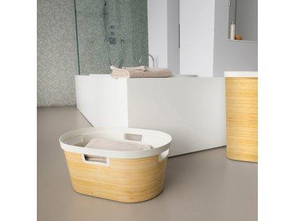 Prádelní koš s bambusovým vzorem Infinity 40 l CURVER