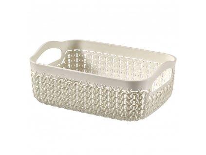 Plastový košík Knit A6 Cream 19 x 14 cm CURVER