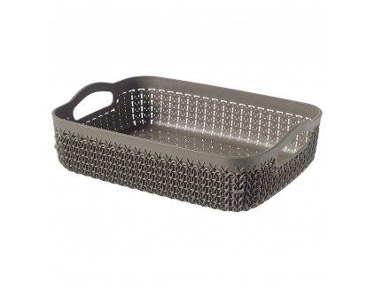 Plastový košík Knit A5 Brown / Grey 26 x 20 cm CURVER