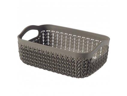 Plastový košík Knit A6 Brown / Grey 19 x 14 cm CURVER