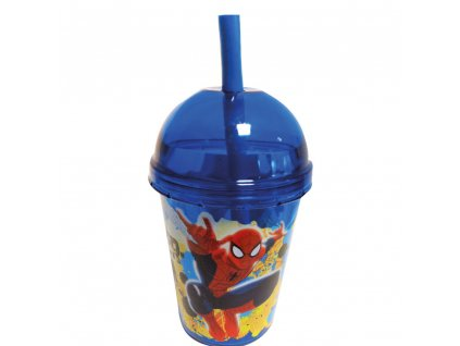 Kelímek se slámkou Spiderman Smoothie 415 ml DISNEY