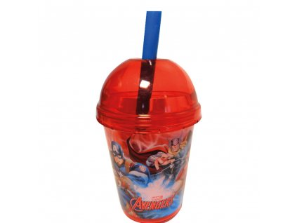 Kelímek se slámkou Avengers Smoothie 415 ml DISNEY