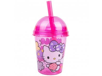 Kelímek se slámkou Hello Kitty Smoothie 415 ml DISNEY