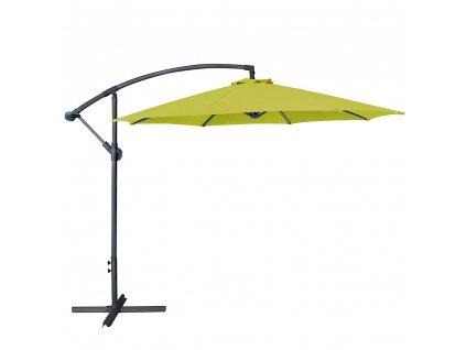 Zahradní ocelový slunečník s boční nohou Lime 3 m PATIO