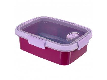 Nádobka s příbory To Go Lunch Violet 20 x 15 x 7 cm, 1000 ml CURVER