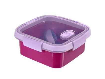 dóza s příbory To Go Lunch Violet 16 x 16 x 7 cm, 900 ml CURVER