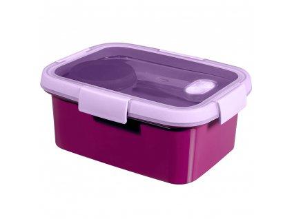 dóza 3v1 To Go Lunch Kit Violet 20 x 15 x 9 cm, 1200 ml CURVER