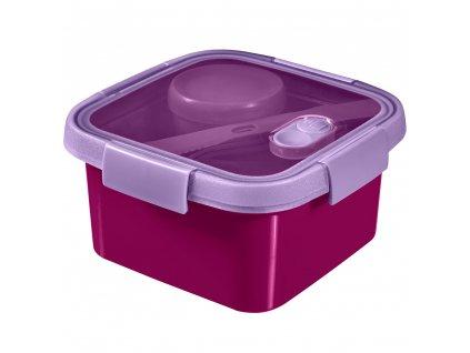 dóza 3v1 To Go Lunch Kit Violet 16 x 16 x 9 cm, 1100 ml CURVER