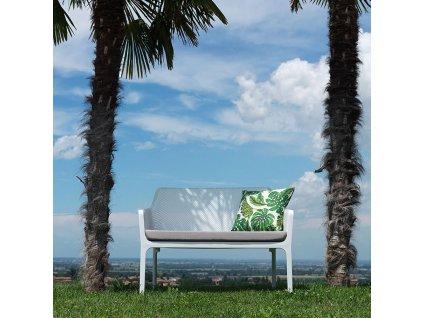 Plastová zahradní lavice Net Bianco NARDI