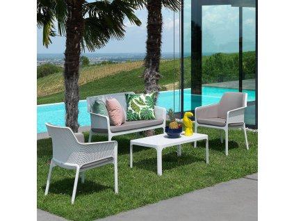 Plastový zahradní stůl Net Bianco 100 x 60 cm NARDI