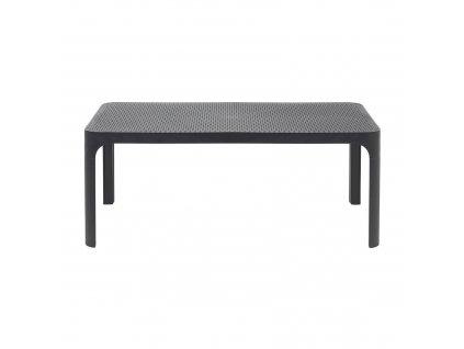 Plastový zahradní stůl Net Antracite 100 x 60 cm NARDI