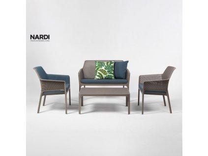 Plastový zahradní stůl Net Tortora 100 x 60 cm NARDI