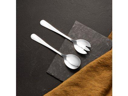 Sada příborů na salát lžíce a vidlička Napoli 19,5 cm AMBITION