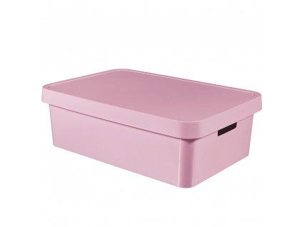 Plastový koš s víkem Infinity Pink 56 x 39 x 18 cm CURVER