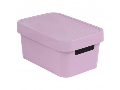 Plastový koš s víkem Infinity Pink 27 x 19 x 12 cm CURVER
