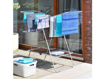 Sušák na prádlo Klara metalic / blue 162 x 61 x 114 cm JOTTA