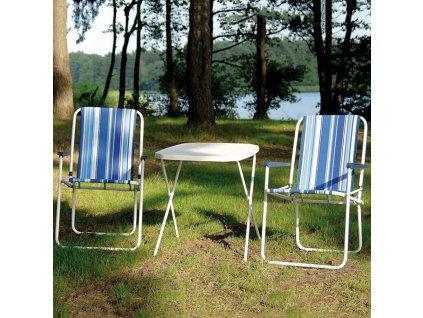 Skládací turistický stůl White 70 x 53 cm PATIO