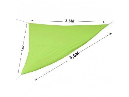 Stínící plachta Lime 3,6 x 3,6 x 3,6 m filtr UV50+PA PATIO