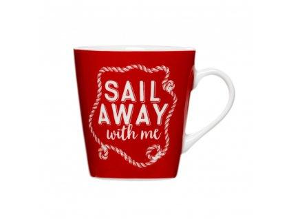 Porcelánový hrnek Sail Away Red 330 ml AMBITION