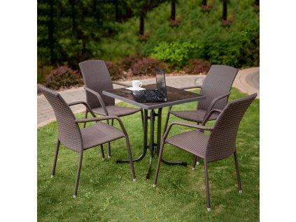 Zahradní stůl Dine & Relax Ceramico / Antracit 70 x 70 cm PATIO