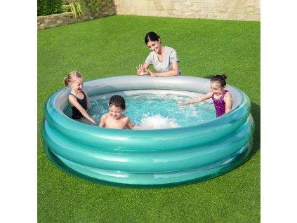 Nafukovací dětský bazén Big Metalic 201 x 53 cm BESTWAY